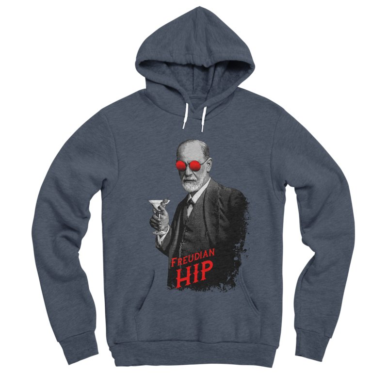 Hipster Psychologist Sigmund Freud Women's Sponge Fleece Pullover Hoody by Grandio Design Artist Shop