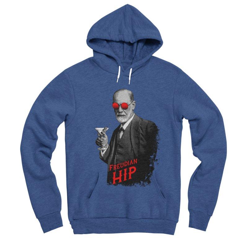 Hipster Psychologist Sigmund Freud Men's Sponge Fleece Pullover Hoody by Grandio Design Artist Shop