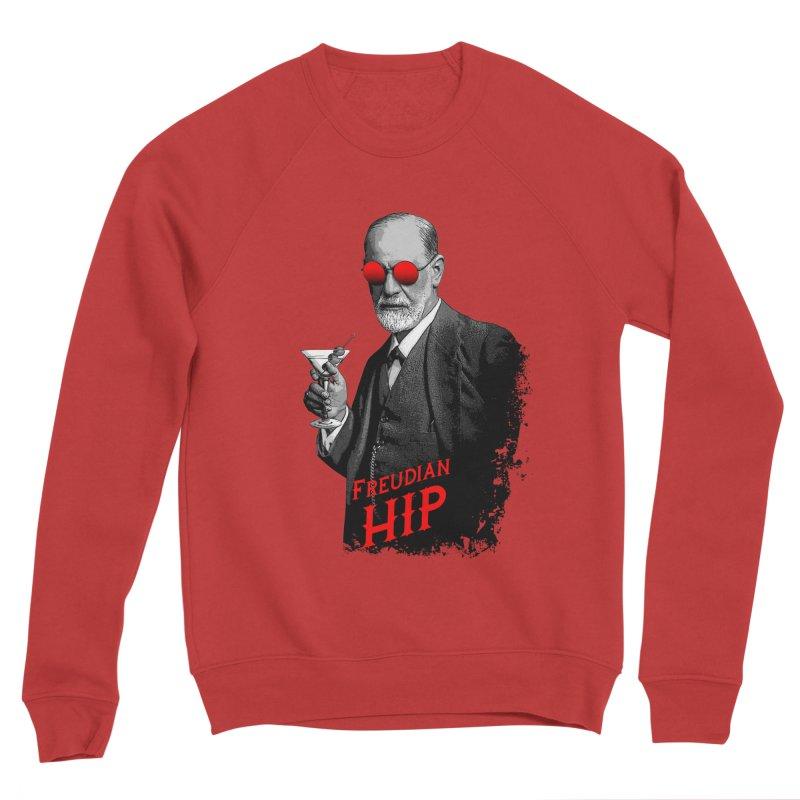 Hipster Psychologist Sigmund Freud Men's Sponge Fleece Sweatshirt by Grandio Design Artist Shop