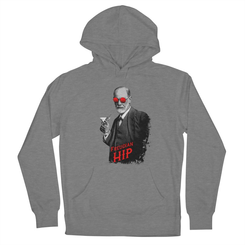 Hipster Psychologist Sigmund Freud Women's Pullover Hoody by Grandio Design Artist Shop