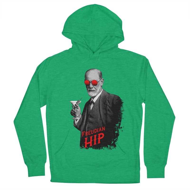 Hipster Psychologist Sigmund Freud Women's French Terry Pullover Hoody by Grandio Design Artist Shop