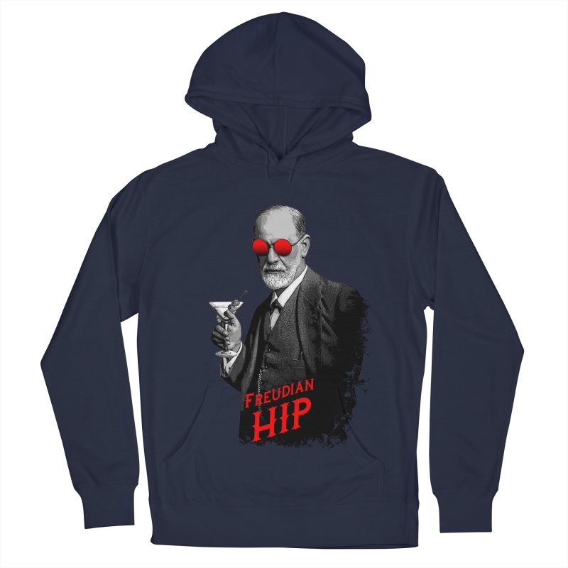 Hipster Psychologist Sigmund Freud Men's French Terry Pullover Hoody by Grandio Design Artist Shop