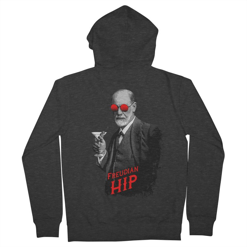 Hipster Psychologist Sigmund Freud Women's French Terry Zip-Up Hoody by Grandio Design Artist Shop