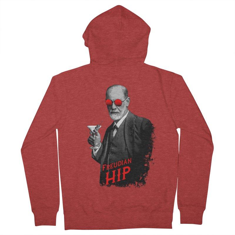Hipster Psychologist Sigmund Freud Women's French Terry Zip-Up Hoody by Grandio Design Artist Shop