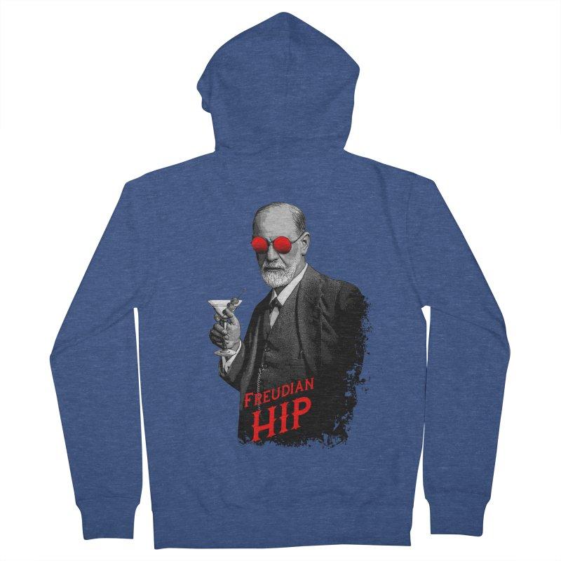 Hipster Psychologist Sigmund Freud Men's French Terry Zip-Up Hoody by Grandio Design Artist Shop
