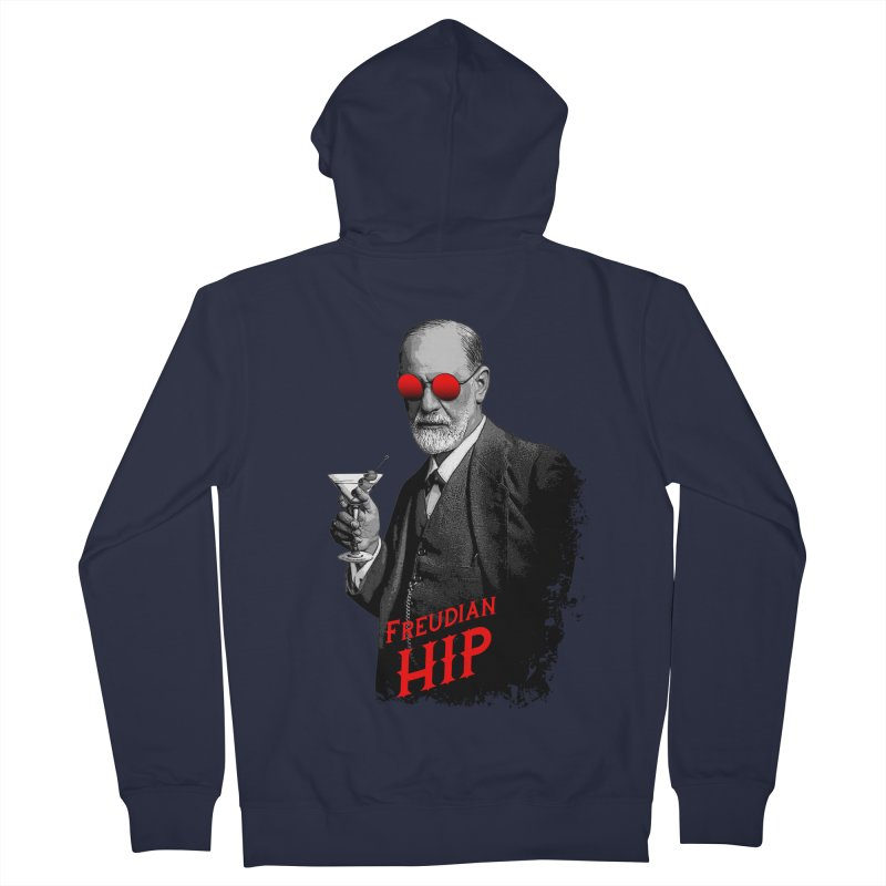 Hipster Psychologist Sigmund Freud Men's French Terry Zip-Up Hoody by Grandio Design Artist Shop