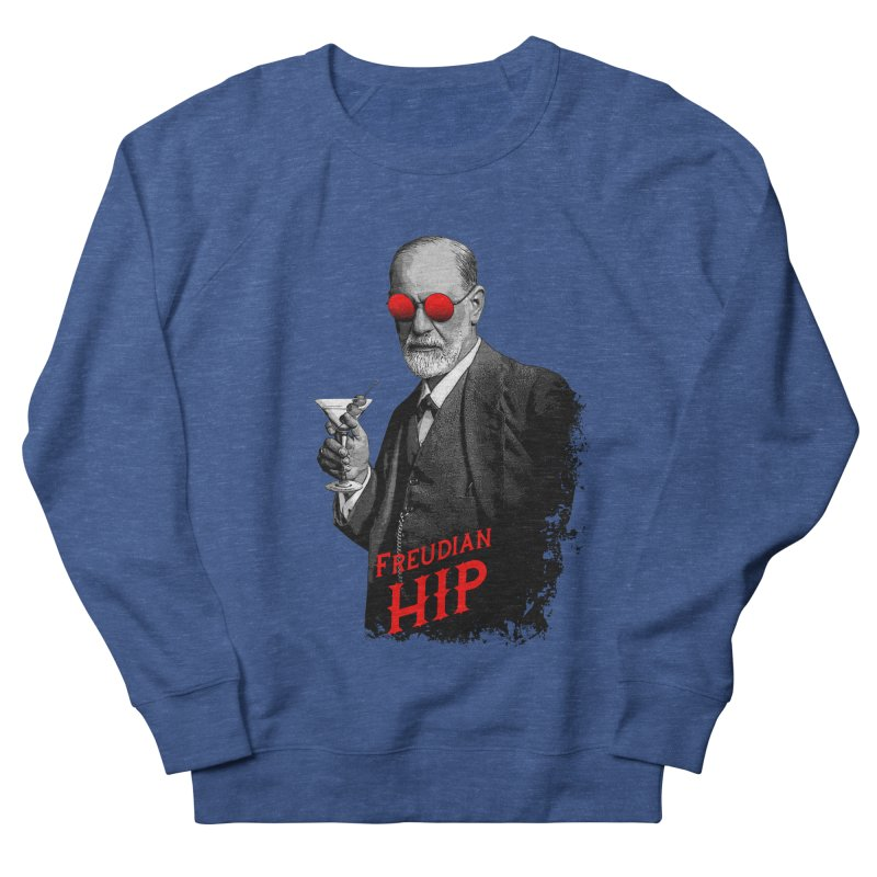 Hipster Psychologist Sigmund Freud Men's French Terry Sweatshirt by Grandio Design Artist Shop