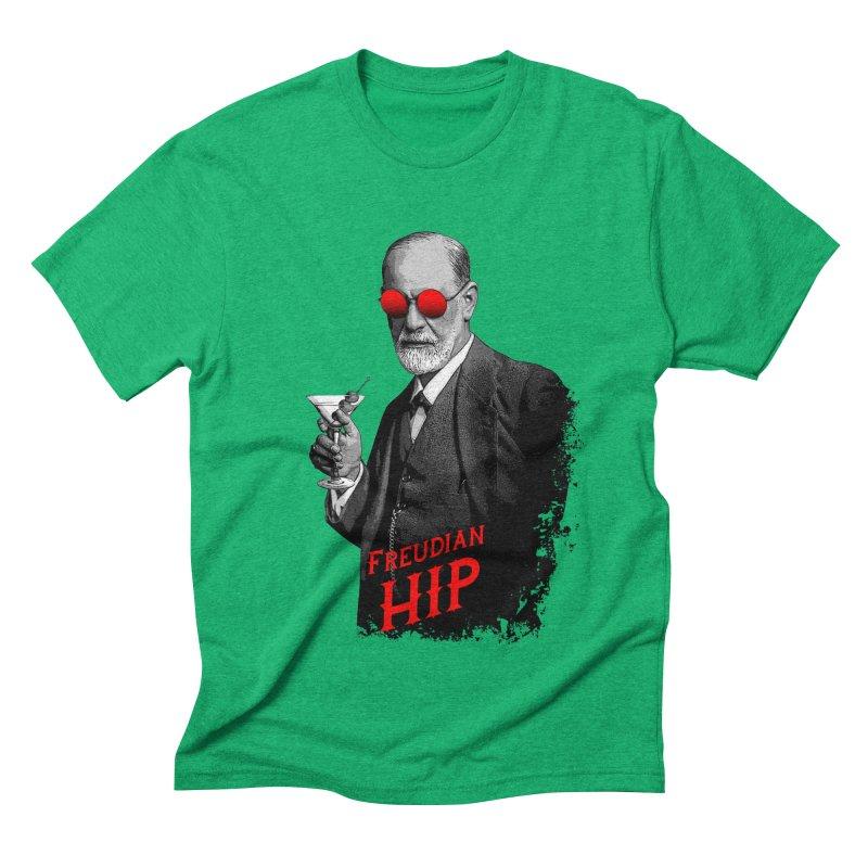 Hipster Psychologist Sigmund Freud Men's Triblend T-Shirt by Grandio Design Artist Shop