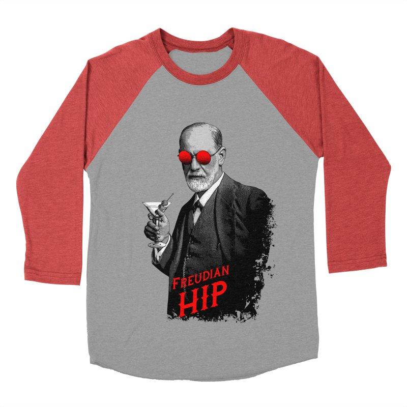 Hipster Psychologist Sigmund Freud Women's Baseball Triblend Longsleeve T-Shirt by Grandio Design Artist Shop