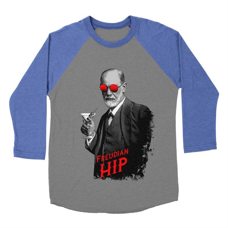 Hipster Psychologist Sigmund Freud Men's Baseball Triblend Longsleeve T-Shirt by Grandio Design Artist Shop