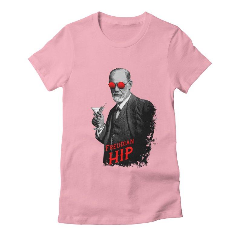 Hipster Psychologist Sigmund Freud Women's Fitted T-Shirt by Grandio Design Artist Shop