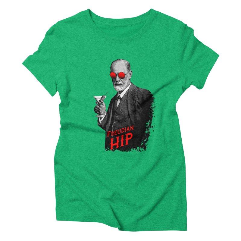 Hipster Psychologist Sigmund Freud Women's Triblend T-Shirt by Grandio Design Artist Shop