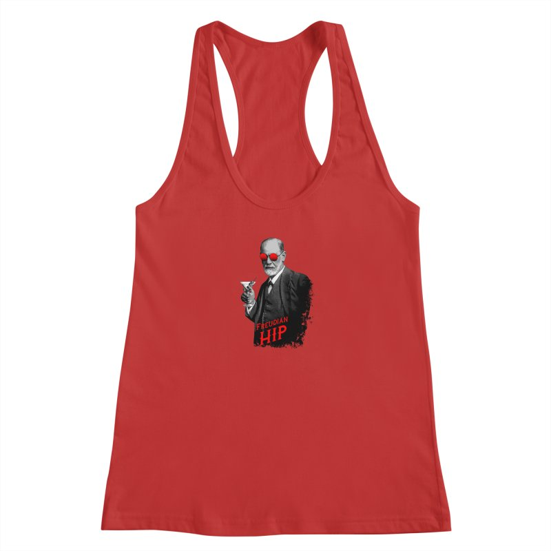 Hipster Psychologist Sigmund Freud Women's Tank by Grandio Design Artist Shop