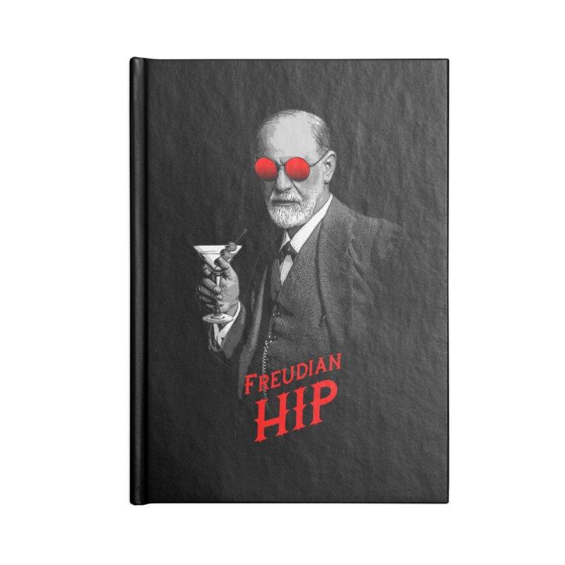 Hipster Psychologist Sigmund Freud Accessories Notebook by Grandio Design Artist Shop