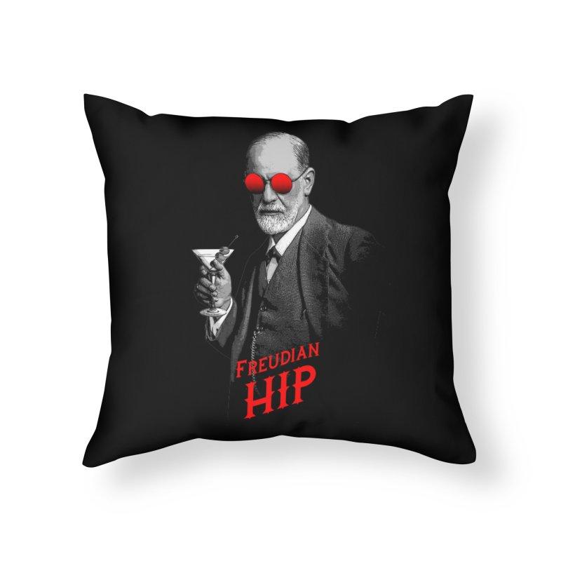 Hipster Psychologist Sigmund Freud Home Throw Pillow by Grandio Design Artist Shop