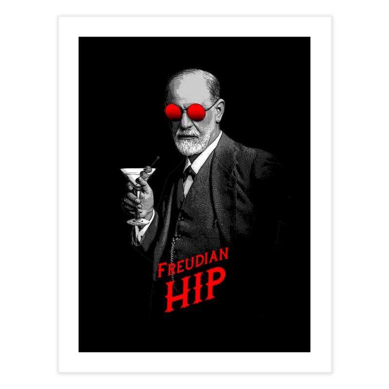 Hipster Psychologist Sigmund Freud Home Fine Art Print by Grandio Design Artist Shop