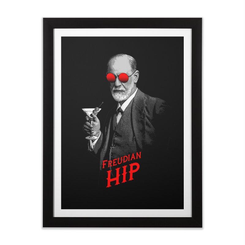Hipster Psychologist Sigmund Freud Home Framed Fine Art Print by Grandio Design Artist Shop