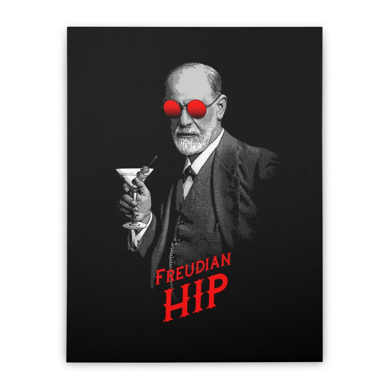 Hipster Psychologist Sigmund Freud Home Stretched Canvas by Grandio Design Artist Shop