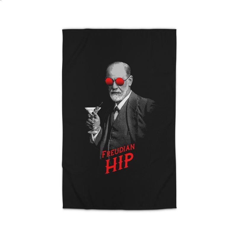 Hipster Psychologist Sigmund Freud Home Rug by Grandio Design Artist Shop