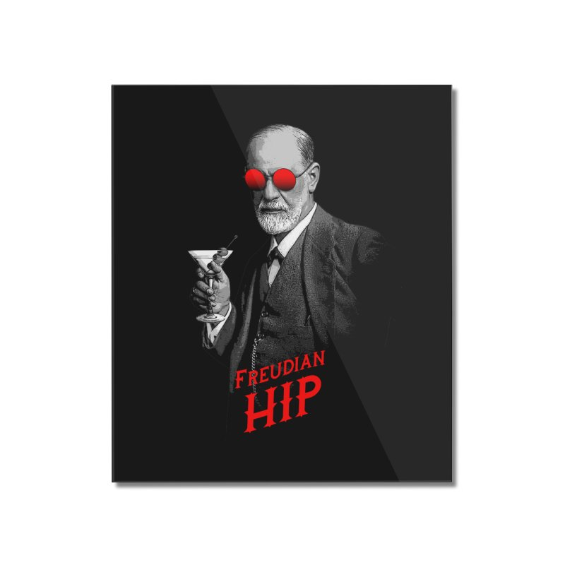 Hipster Psychologist Sigmund Freud Home Mounted Acrylic Print by Grandio Design Artist Shop