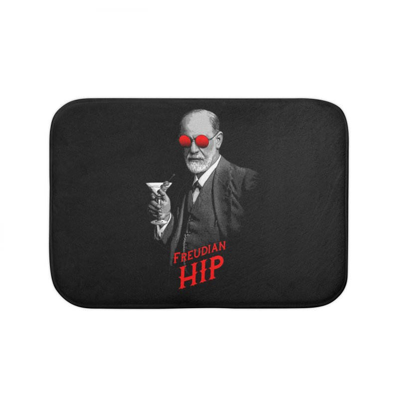 Hipster Psychologist Sigmund Freud Home Bath Mat by Grandio Design Artist Shop