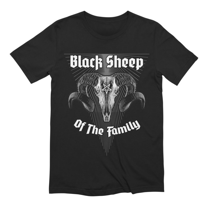 Black Sheep Of The Family Men's Extra Soft T-Shirt by Grandio Design Artist Shop
