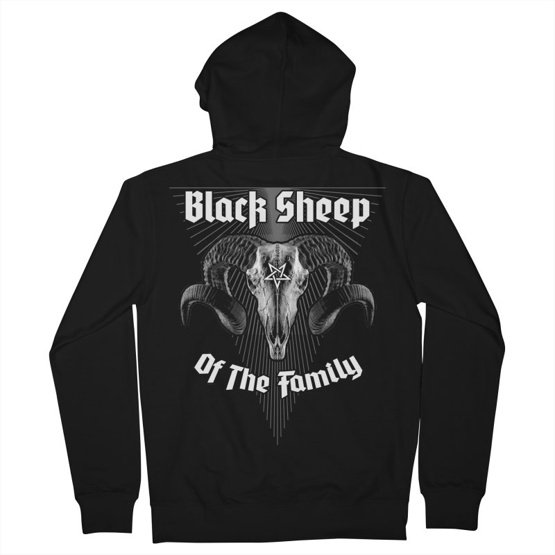 Black Sheep Of The Family Men's French Terry Zip-Up Hoody by Grandio Design Artist Shop