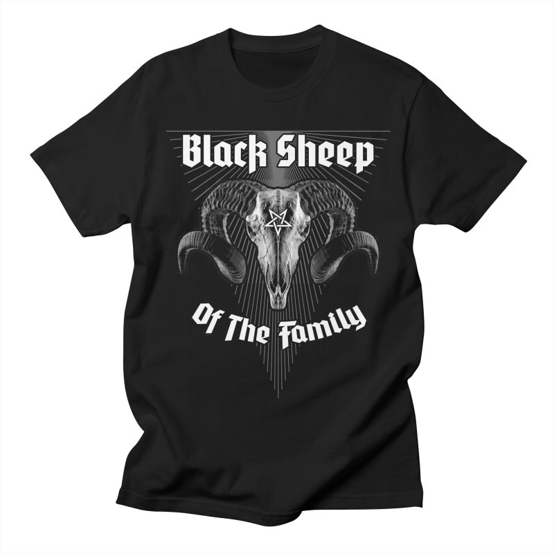 Black Sheep Of The Family Women's Regular Unisex T-Shirt by Grandio Design Artist Shop