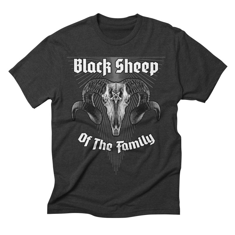 Black Sheep Of The Family Men's Triblend T-Shirt by Grandio Design Artist Shop