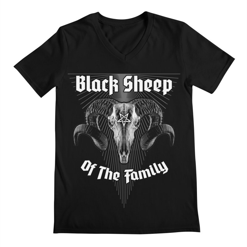 Black Sheep Of The Family Men's Regular V-Neck by Grandio Design Artist Shop