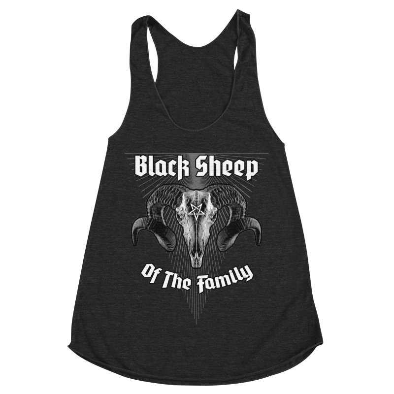 Black Sheep Of The Family Women's Racerback Triblend Tank by Grandio Design Artist Shop