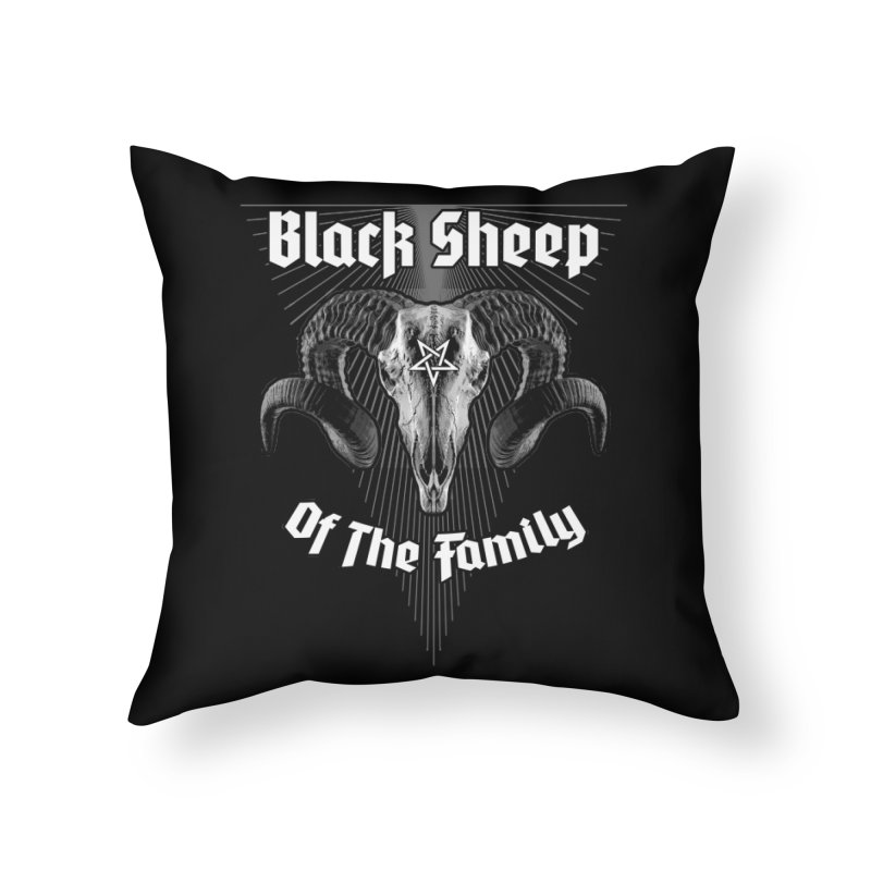 Black Sheep Of The Family Home Throw Pillow by Grandio Design Artist Shop