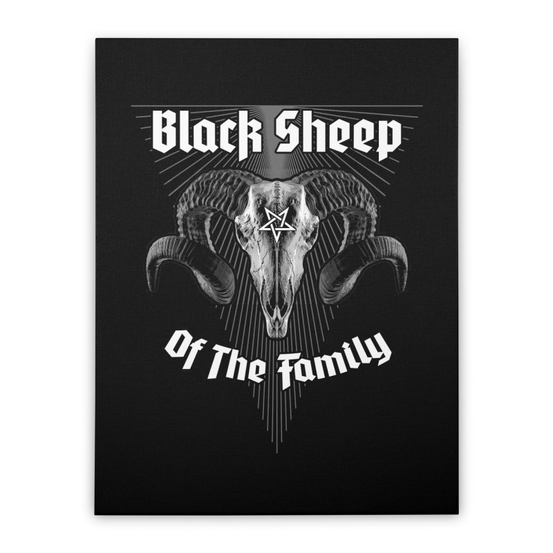 Black Sheep Of The Family Home Stretched Canvas by Grandio Design Artist Shop