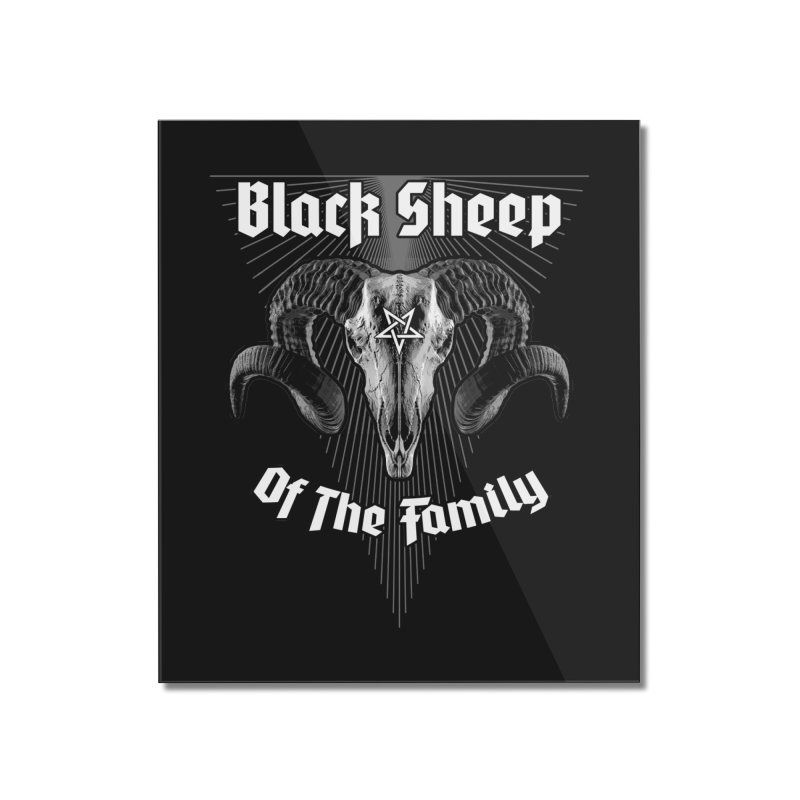 Black Sheep Of The Family Home Mounted Acrylic Print by Grandio Design Artist Shop