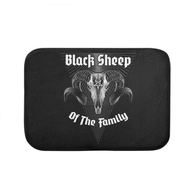 Black Sheep Of The Family Home Bath Mat by Grandio Design Artist Shop