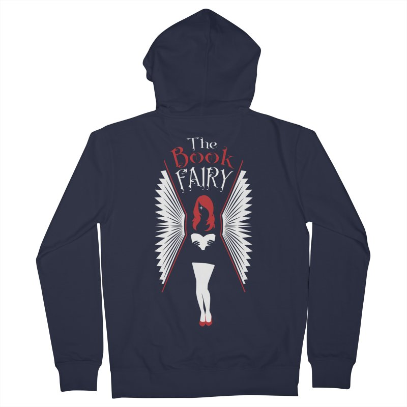 The Book Fairy Women's French Terry Zip-Up Hoody by Grandio Design Artist Shop