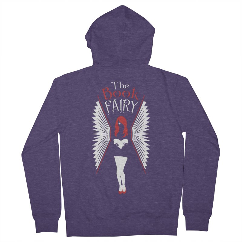 The Book Fairy Men's French Terry Zip-Up Hoody by Grandio Design Artist Shop