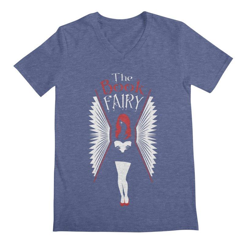 The Book Fairy Men's Regular V-Neck by Grandio Design Artist Shop