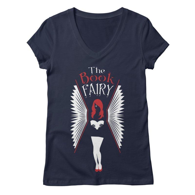 The Book Fairy Women's Regular V-Neck by Grandio Design Artist Shop