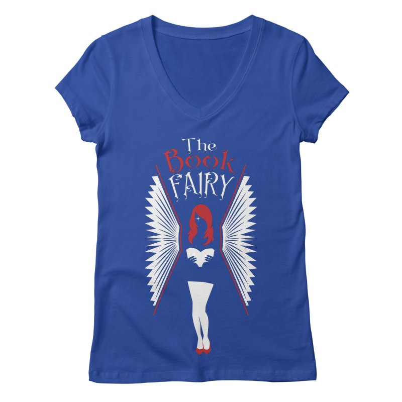 The Book Fairy Women's Regular V-Neck by Grandio Design Artist Shop
