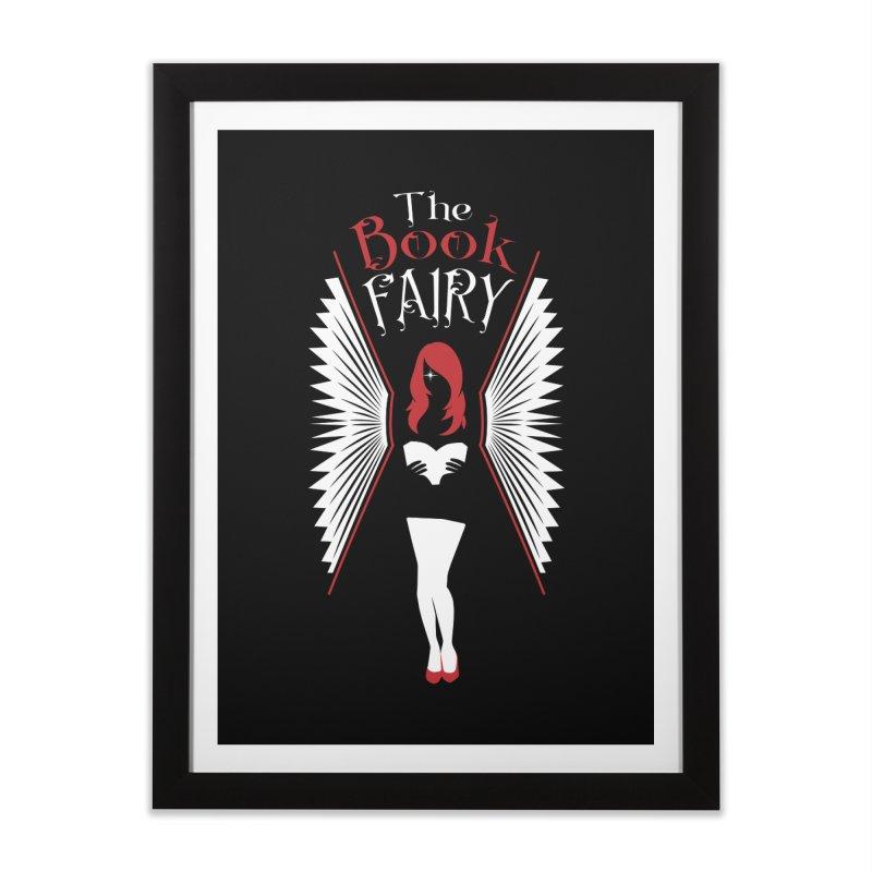 The Book Fairy Home Framed Fine Art Print by Grandio Design Artist Shop