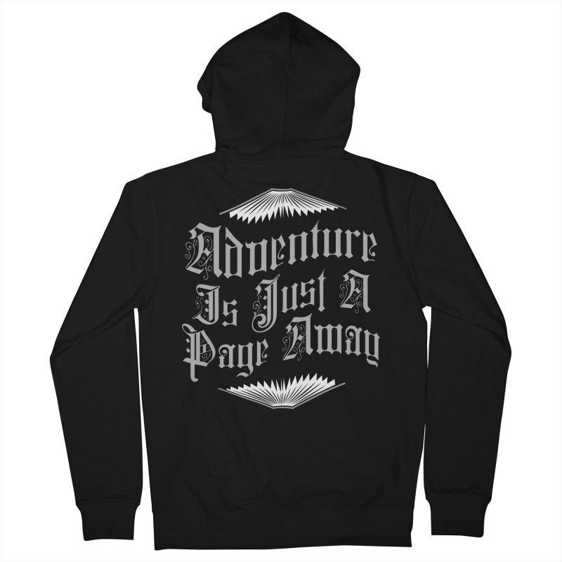 Adventure Is Just A Page Away Men's Zip-Up Hoody by Grandio Design Artist Shop