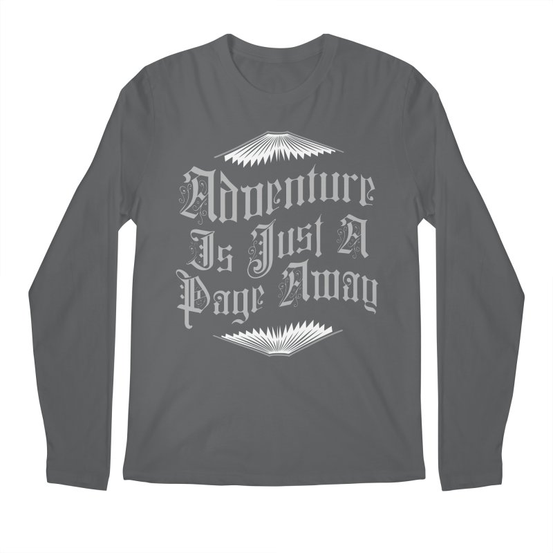 Adventure Is Just A Page Away Men's Longsleeve T-Shirt by Grandio Design Artist Shop