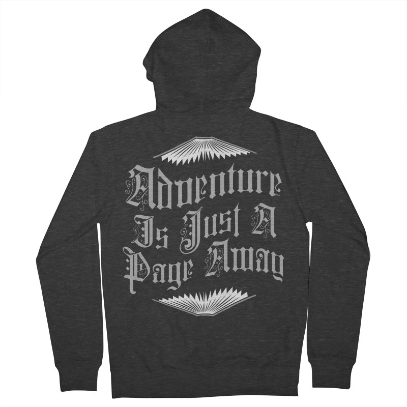 Adventure Is Just A Page Away Women's French Terry Zip-Up Hoody by Grandio Design Artist Shop