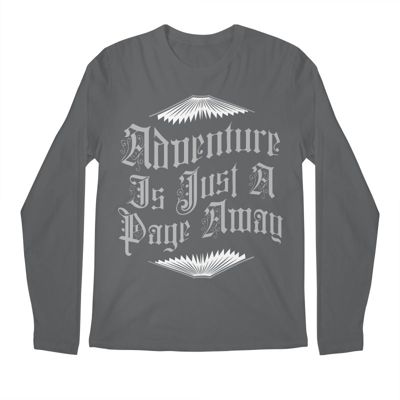 Adventure Is Just A Page Away Men's Regular Longsleeve T-Shirt by Grandio Design Artist Shop