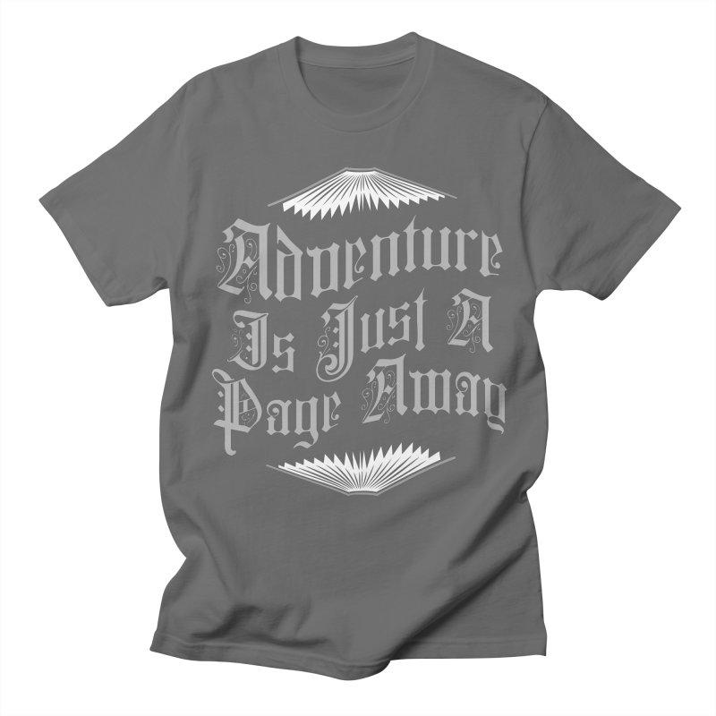 Adventure Is Just A Page Away Women's Regular Unisex T-Shirt by Grandio Design Artist Shop