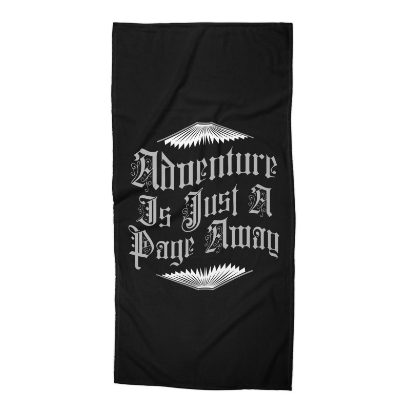 Adventure Is Just A Page Away Accessories Beach Towel by Grandio Design Artist Shop