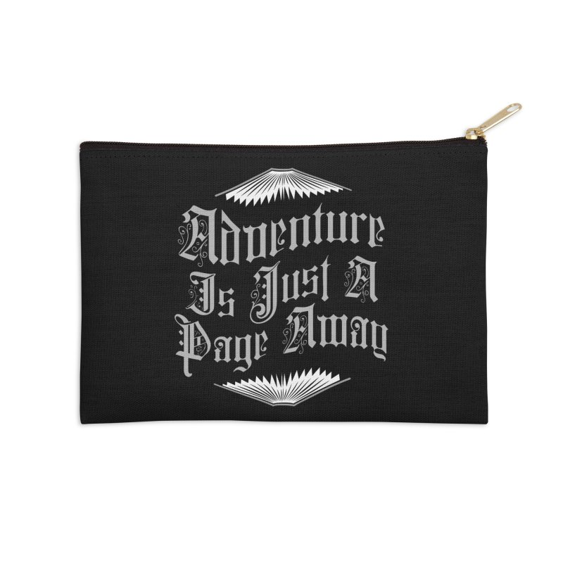 Adventure Is Just A Page Away Accessories Zip Pouch by Grandio Design Artist Shop