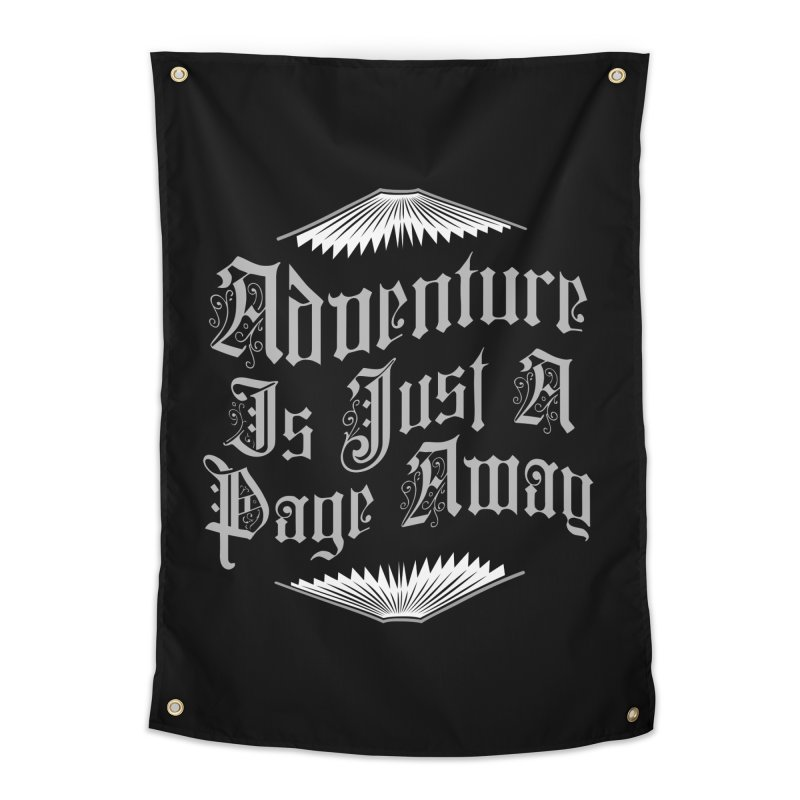 Adventure Is Just A Page Away Home Tapestry by Grandio Design Artist Shop