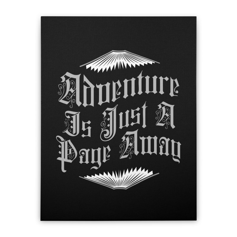 Adventure Is Just A Page Away Home Stretched Canvas by Grandio Design Artist Shop